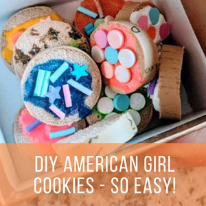DIY American Girl Cookies - Make Your Own! So Fun and So Easy with Recycled Corks!