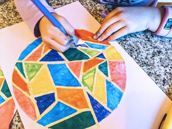 Kids Hands Mosaic